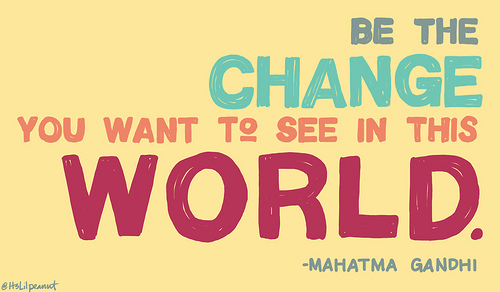 be the change quote