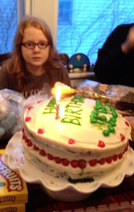 This was our 2013 birthday cake for Jesus.  The fisher price version of him is right on top.