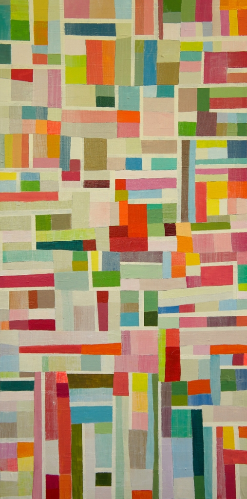 Georgia Gray - Small Grid 1 2011 20cm x 40cm acrylic on canvas