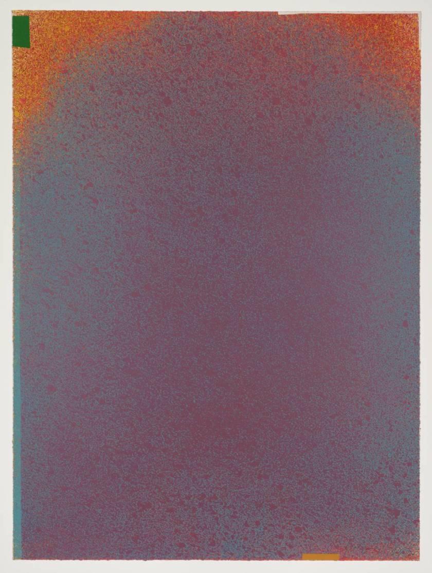 """Mauve-Blue"" - 1970 J- by Jules Olitski"