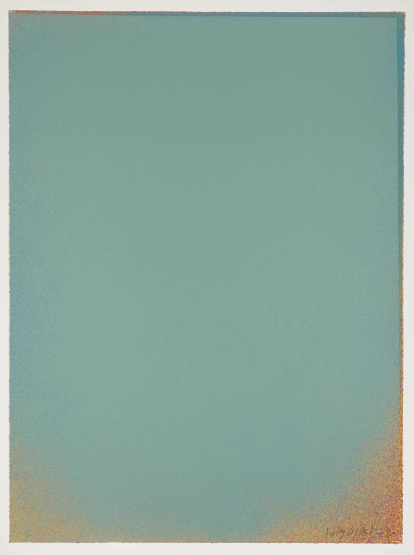 """Pale Blue"" - 1970 - by Jules Olitski"