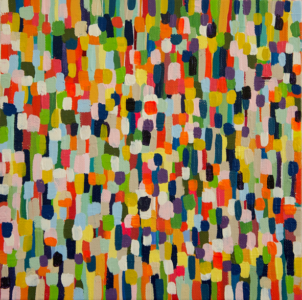Colour field 2010 25cm x 25cm acrylic on canvas