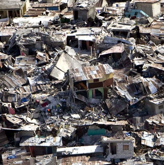 haiti crumbled houses