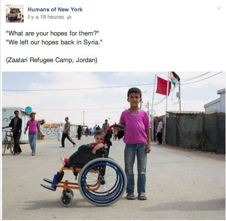 Humans of New York in Zaatari Refugee Camp, Friday, August 15, 2014