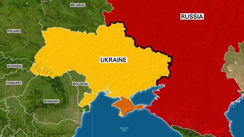 Map of Ukraine/Russia