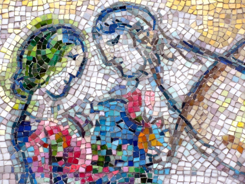 Four Seasons, Marc Chagall, Mosaic, Chicago, 1974