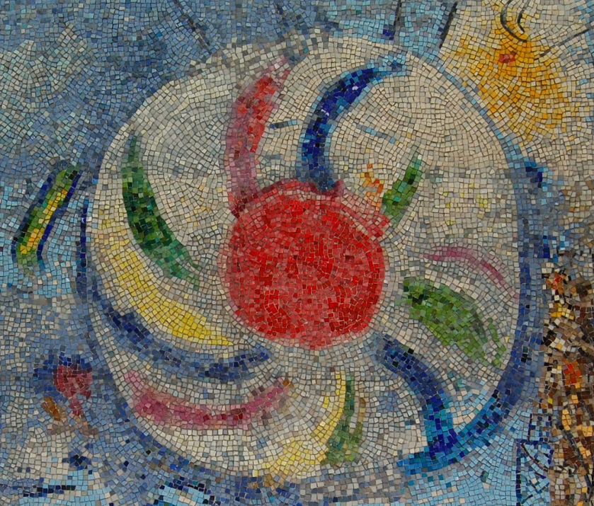 Four Seasons, Marc Chagall, Mosaic, Chicago, 1974