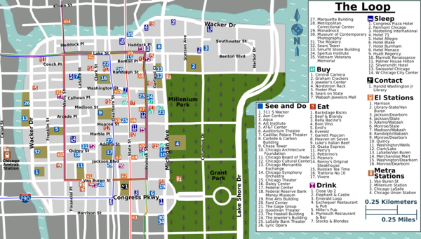 Map of the Chicago Loop, WikiMaps