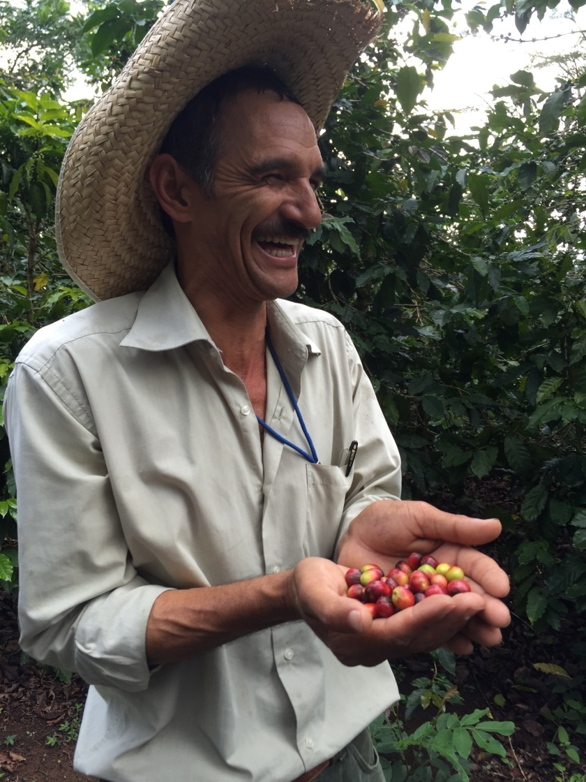 This coffee farmer at Mission Lazarus had such gentle, persistent joy. He delighted me. Photo by Pamela Klein.