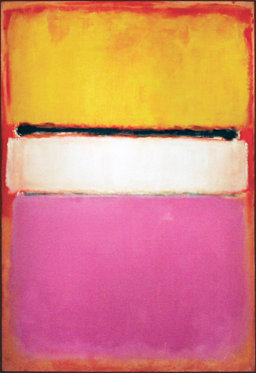 Mark Rothko, White Center (Yellow, Pink and Lavender on Rose) , 81in x 56in, photo by TIMOTHY A. CLARY/AFP/Getty Images
