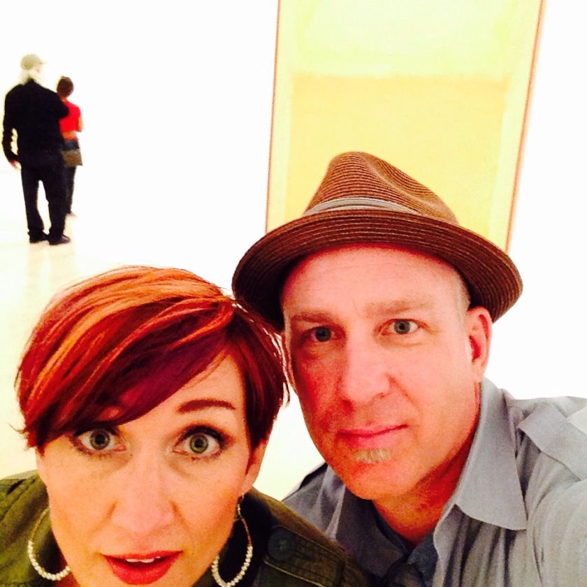 Danielle and Crilly at the Milwaukee Art Museum