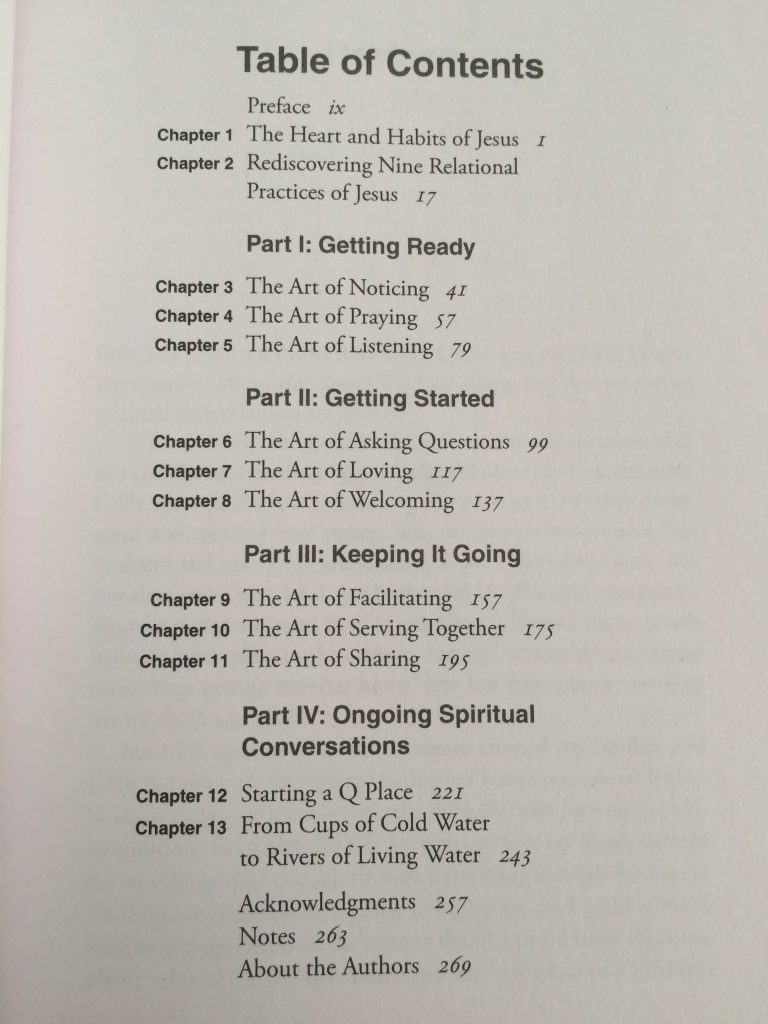 9 Arts Table of Contents