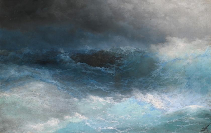 """""""Stormy Sea"""" - Ivan Konstantinovich Aivazovsky - via sothebys.com"""