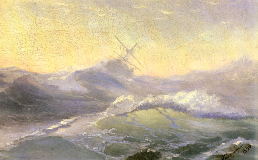 """Bracing the Waves"" - Ivan Konstantinovich Aivazovsky - via wikimedia.org"
