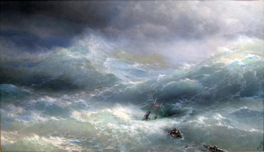 """Wave"" - Ivan Aivazovsky - 1889 - via wikimedia.org"