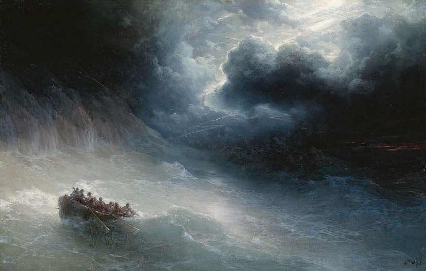 """The Wrath of the Seas"" - Ivan Konstantinovich Aivazovsky - 1886 - via wikiart"