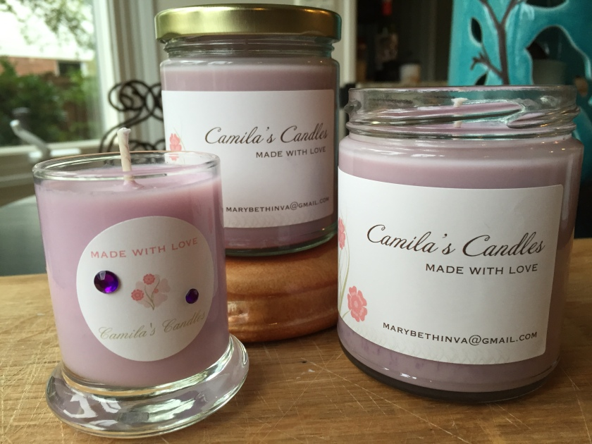 Camila's Candles - you can order some today!