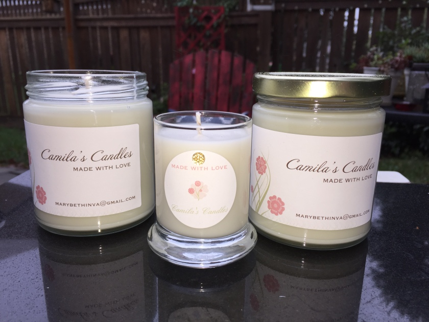 Camila's Candles are made with love by the Long Family